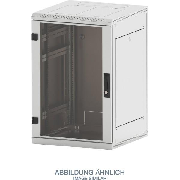 "Triton RMA-15-A68-CAX-A1 19"" Netzwerkschrank 15HE, 600x800mm, Glastür, grau"