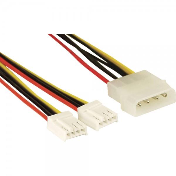 "InLine® Strom Y-Kabel intern, 1x 13,34cm (5,25"") an 2x 8,89cm (3,5"")"