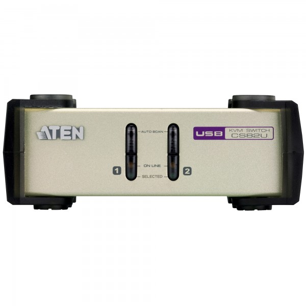 ATEN CS82U KVM-Switch 2-fach, PS/2 oder USB