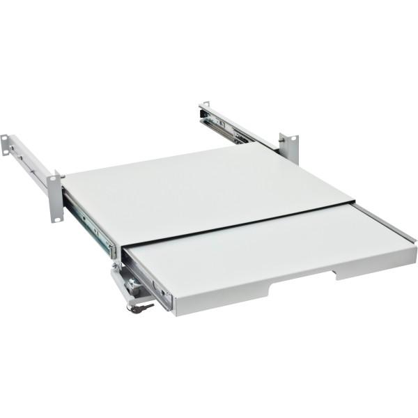 "Triton RAC-UP-X29-A1 19"" verschließbarer Tastatur- und Mauseinschub, grau"