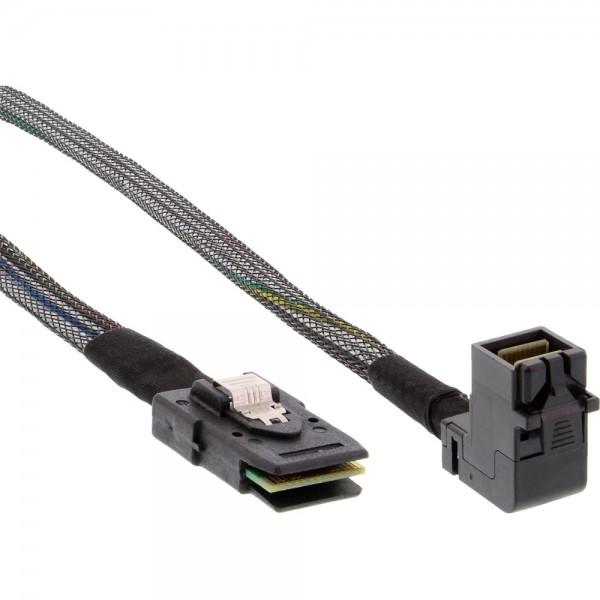 InLine® Mini-SAS HD Kabel, SFF-8643 gewinkelt zu SFF-8087, mit Sideband, 1m