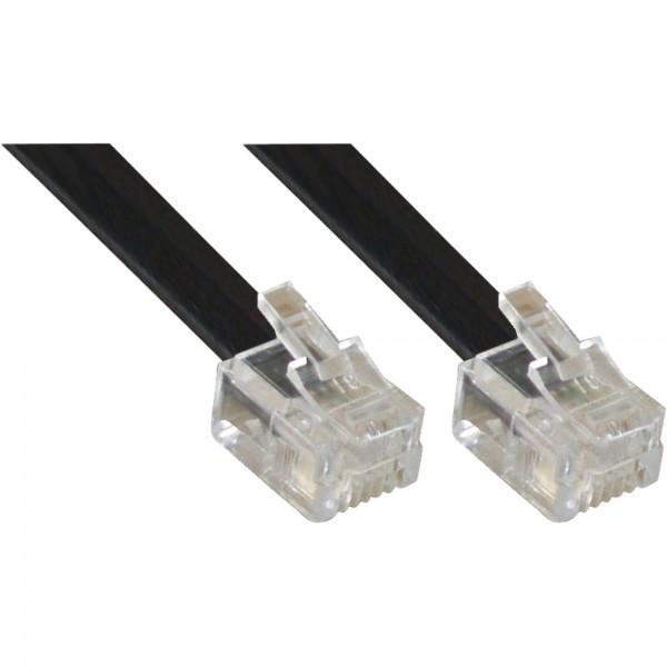 InLine® Modularkabel RJ11, Stecker / Stecker, 4adrig, 6P4C, 15m