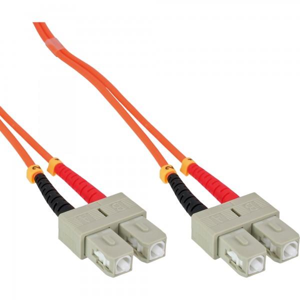 InLine® LWL Duplex Kabel, SC/SC, 50/125µm, OM2, 7,5m