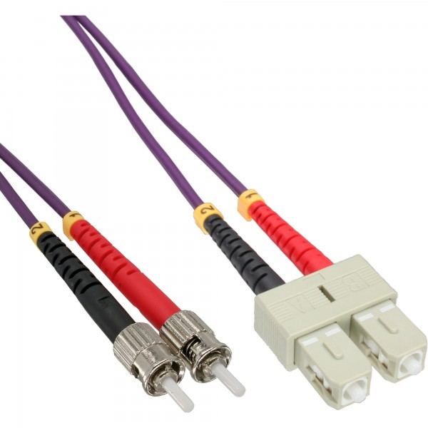 InLine® LWL Duplex Kabel, SC/ST, 50/125µm, OM4, 15m