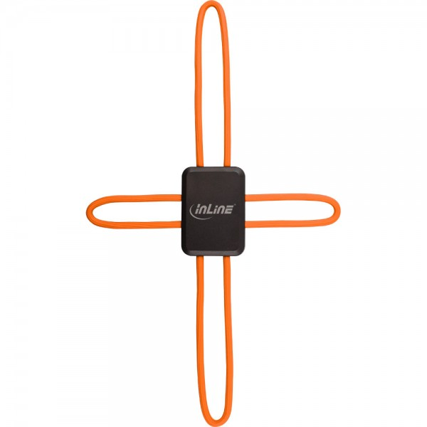 InLine® Universal Smartphone Halterung Smart Hold, orange