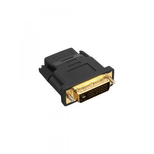 InLine® HDMI-DVI Adapter, HDMI Buchse auf DVI Stecker, vergoldete Kontakte, 4K2K kompatibel