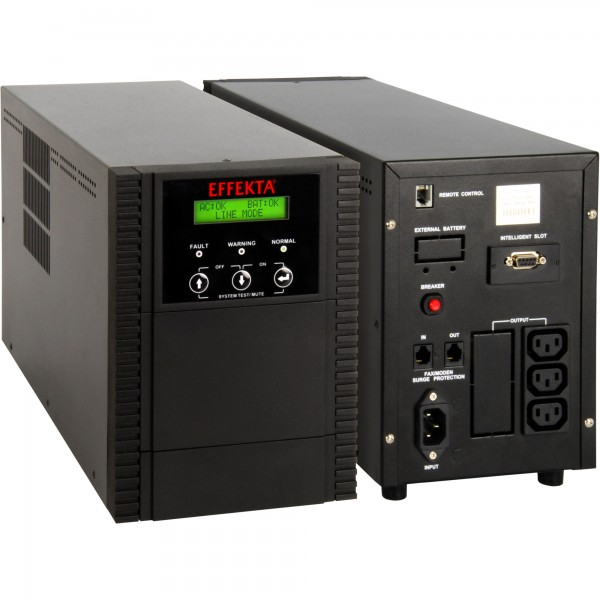 EFFEKTA USV MTD 2000 VA, Line-Interactive Sinus, 4 min., Tower, schwarz