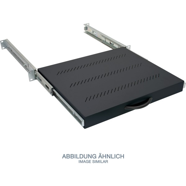 "Triton RAB-UP-X30-A1 19"" Fachboden 1HE ausziehbar, 350mm, 30kg, schwarz"