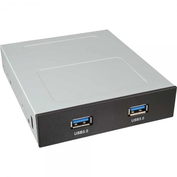 InLine® Frontpanel für den Floppy-Schacht, 2x USB 3.0, schwarz