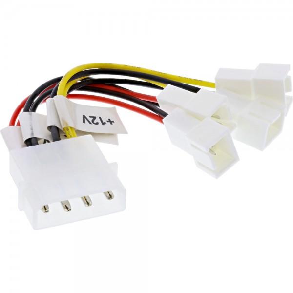 InLine® Lüfter Adapterkabel, 2x 12V und 2x 5V, für 4 Lüfter