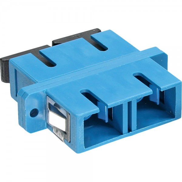 InLine® LWL Kupplung, Duplex SC/SC, singlemode, blau, Keramik-Hülse, zum Einbau