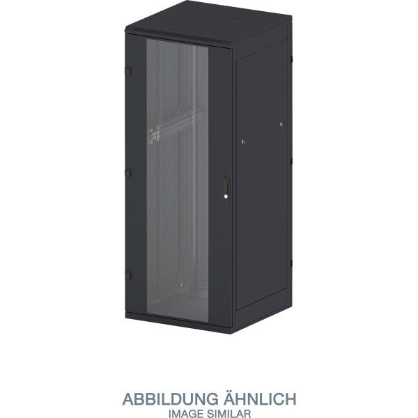 "Triton RMA-42-A86-BAX-A1 19"" Netzwerkschrank 42HE, 800x600mm, Glastür, schwarz"