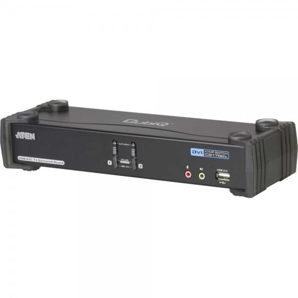 ATEN CS1782A CubiQ KVMP-Switch 2-fach, DVI, USB 2.0, Audio 7.1
